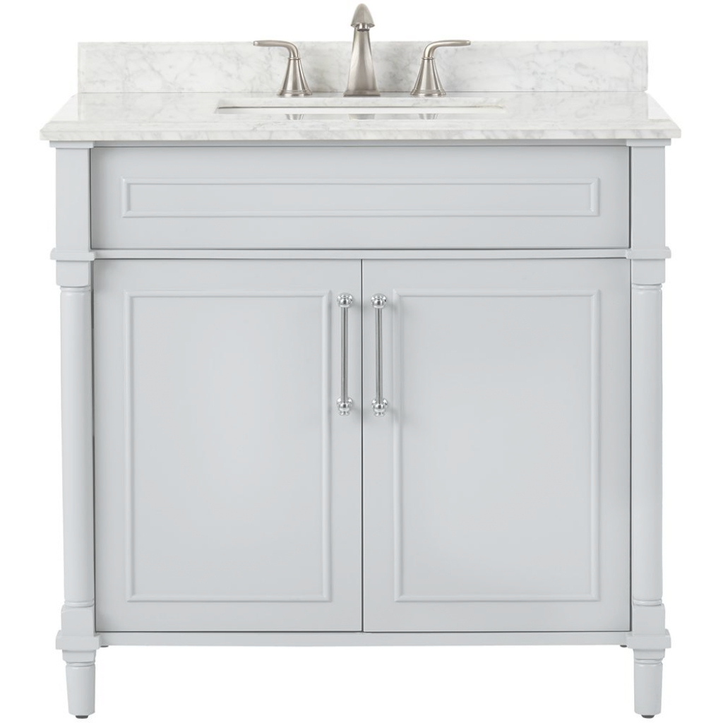 Cool Gray - Bathroom Vanities - Bath - The Home Depot with Beautiful Home Depot Bathroom Vanity Sale