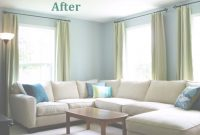 Cool Heart Maine Home: A New, Blue Living Room {Before And After} inside Painting Living Room