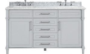 Cool Home Decorators Collection Aberdeen 60 In. W X 22 In. D Double Bath with Awesome Double Bathroom Sink