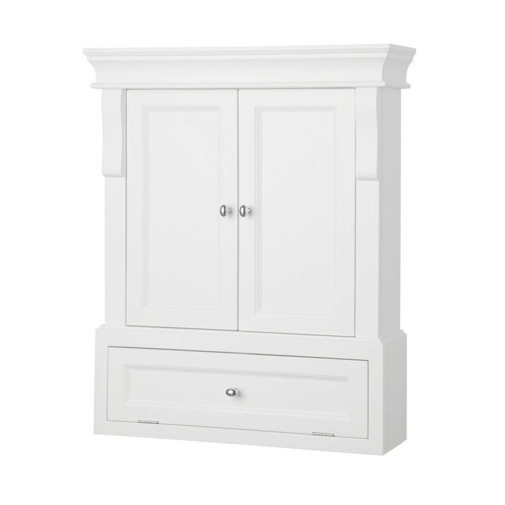 Cool Home Decorators Collection Naples 26-1/2 In. W X 32-3/4 In. H X 8 In with Set Wall Bathroom Cabinets