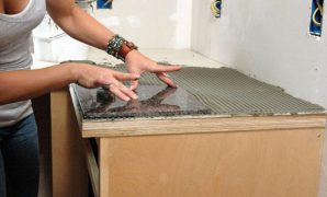 Cool How To Install A Granite Tile Kitchen Countertop | How-Tos | Diy with Unique How To Install Kitchen Countertops