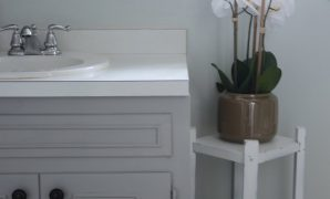 Cool How To Paint A Bathroom Vanity: Diy Makeover - Thrift Diving Blog within Bathroom Vanities For Less