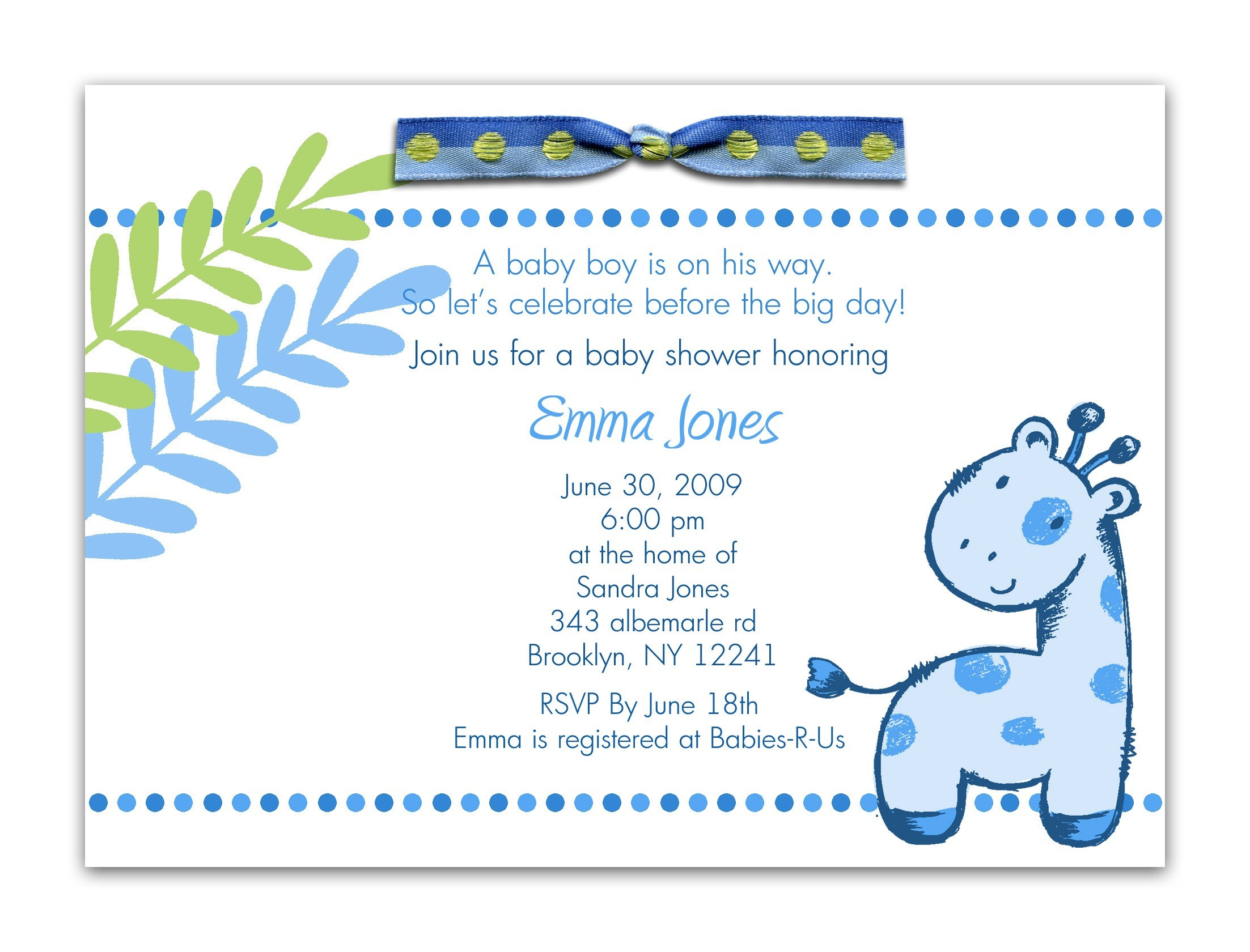 Cool Invitation For Baby Shower: Excellent Baby Boy Shower Invitation regarding New Baby Boy Baby Shower Invitations