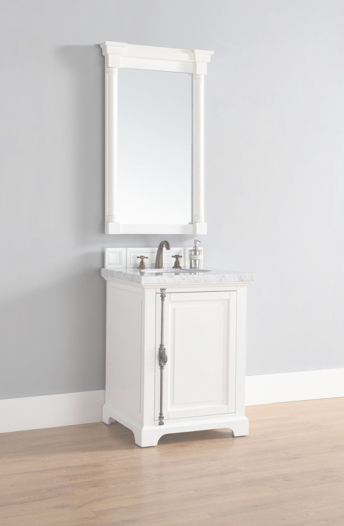 "Cool James Martin Providence Collection 26"" Single Vanity, Cottage White with regard to Fresh James Martin Bathroom Vanities"