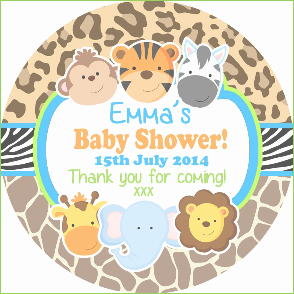 Cool Jungle Animal Baby Shower Great Jungle Animals Personalised Baby for Awesome Safari Animals Baby Shower