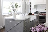 Cool Kitchen Island Paint Color Is Chelsea Gray Benjamin Moore. Via Park with regard to Fresh Grey And White Kitchen Cabinets