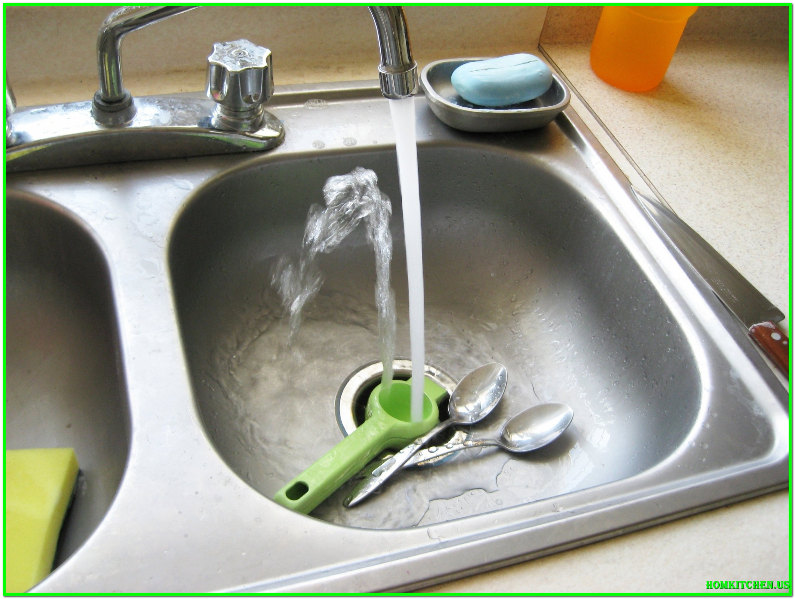 Cool Kitchen : Kitchen Sink Blockage Clearing Blocked Sink Solution Slow throughout How To Unclog A Double Kitchen Sink