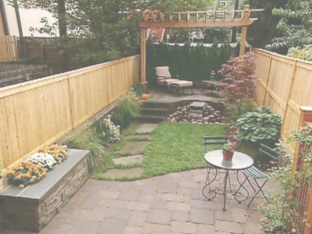 Cool Landscape Design For Small Backyard Design Of Small Urban Backyard pertaining to Awesome Urban Backyard