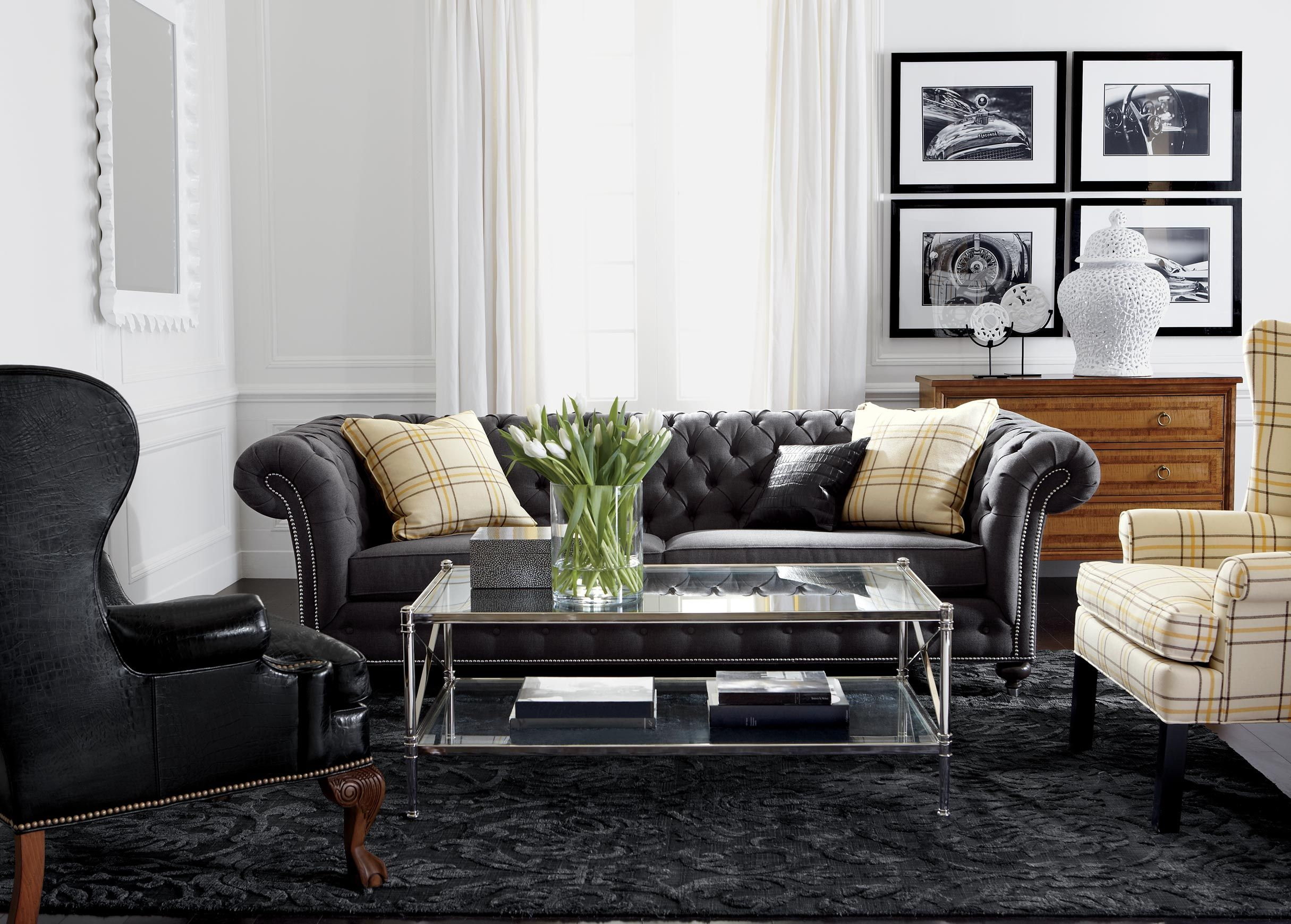 Cool Like The Plaid Wingback And Overall Feel, Masculine But Comfy, Nice throughout Ethan Allen Living Room