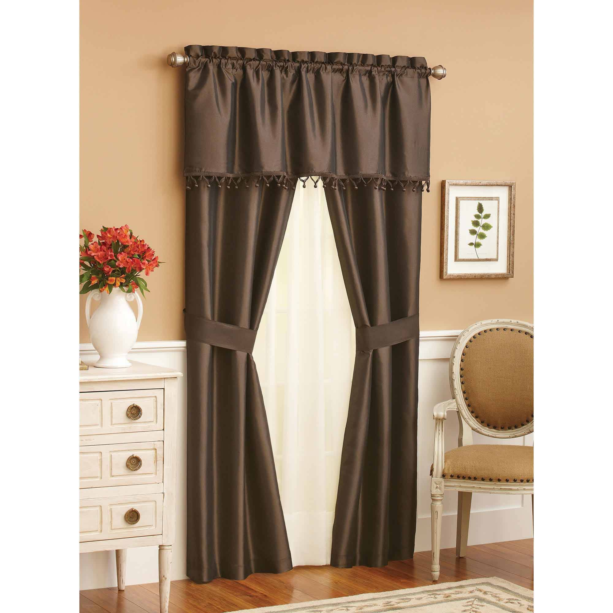 Cool Mainstays Ella Window Set - Walmart pertaining to Walmart Living Room Curtains