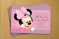 Cool Minnie Mouse Baby Shower Invitations Admirable Minnie Mouse Baby pertaining to Review Minnie Mouse Baby Shower Invitations