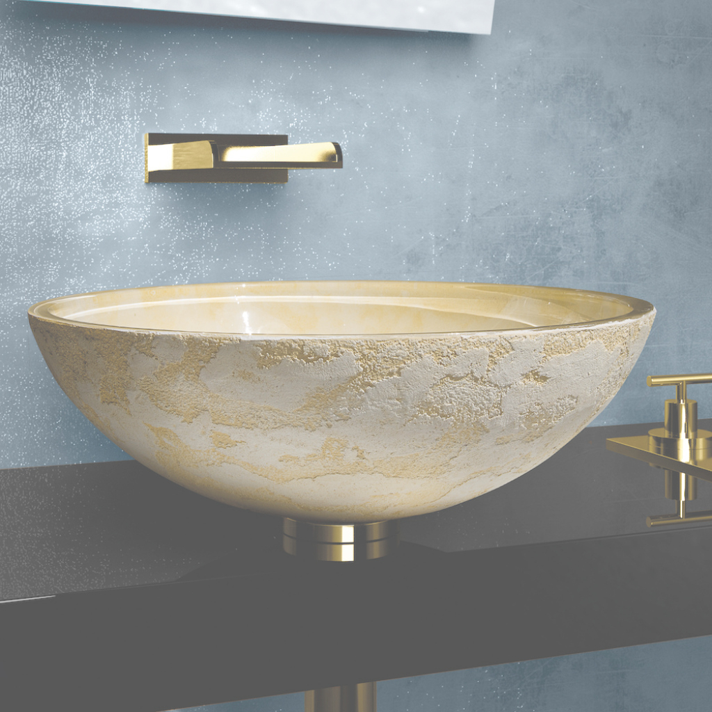 Cool Modern Dual Textured Bathroom Sink pertaining to Bathroom Vessel Sinks