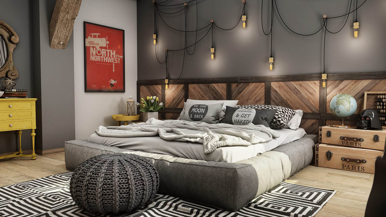 Cool Modern-Vintage-Bedroom-Decor-For-Budget - Nice Room Design - Nice in Unique Vintage Bedroom