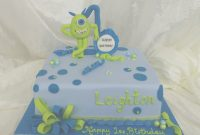 Cool Monsters-Inc-Baby-Shower-Cake-For-Children-At-Walmart-Square-Shape in Monsters Inc Baby Shower Cake