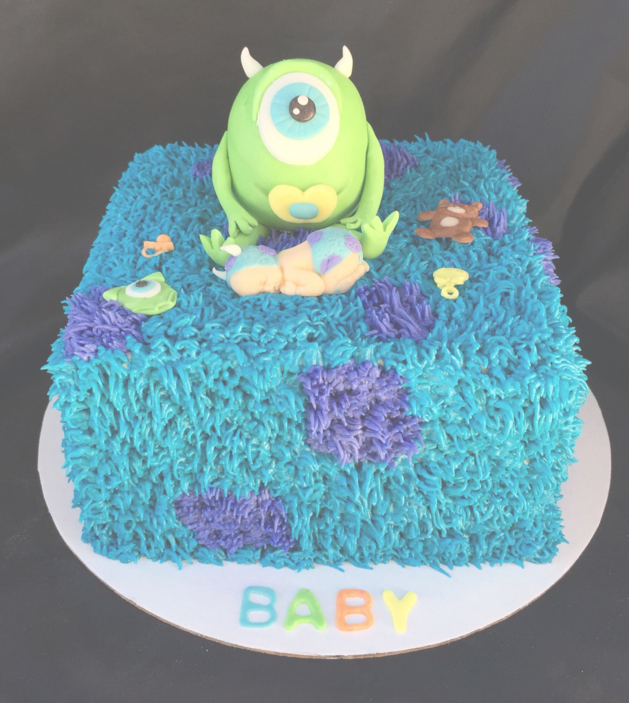 Cool Monsters Inc. Baby Shower Cake ~ Maybe Not With The Baby Though intended for Monsters Inc Baby Shower Cake
