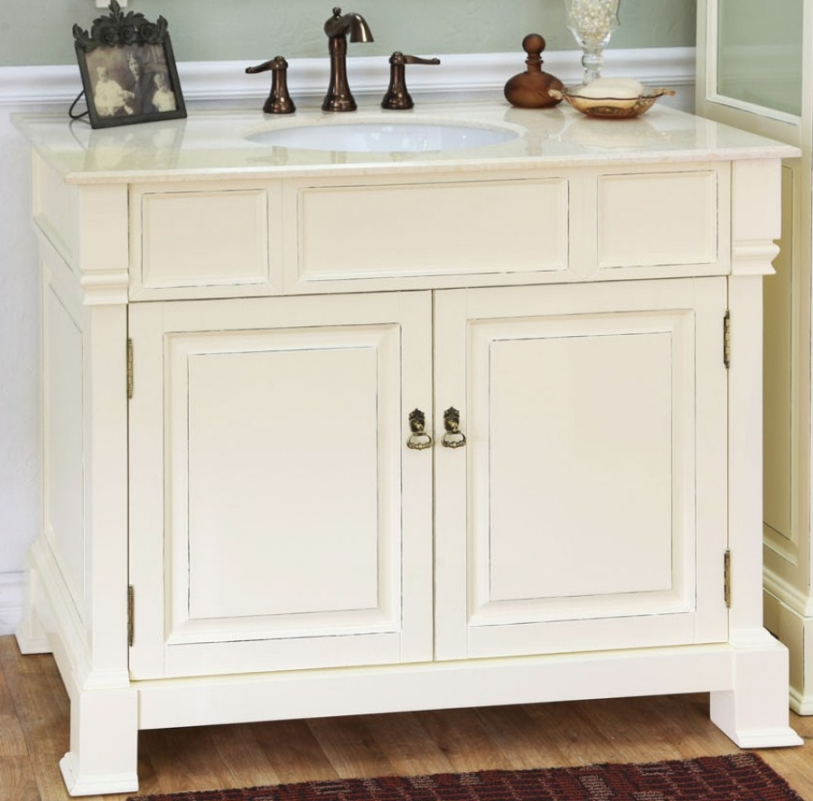 Cool New 42 Inch Bathroom Vanity Cabinet Inside Single Sink In Cream within Elegant 42 Bathroom Vanity Cabinets