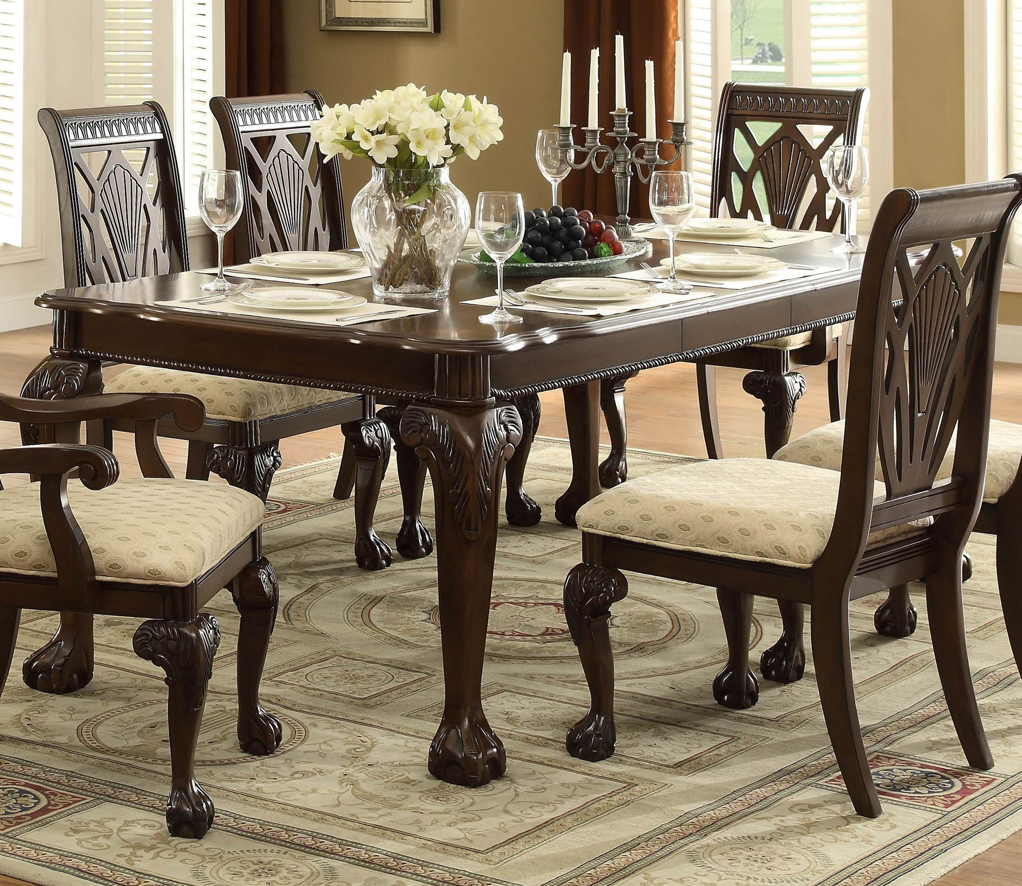 Cool Norwich Warm Cherry Dining Table For $539.94 - Furnitureusa for The Dining Rooms Norwich
