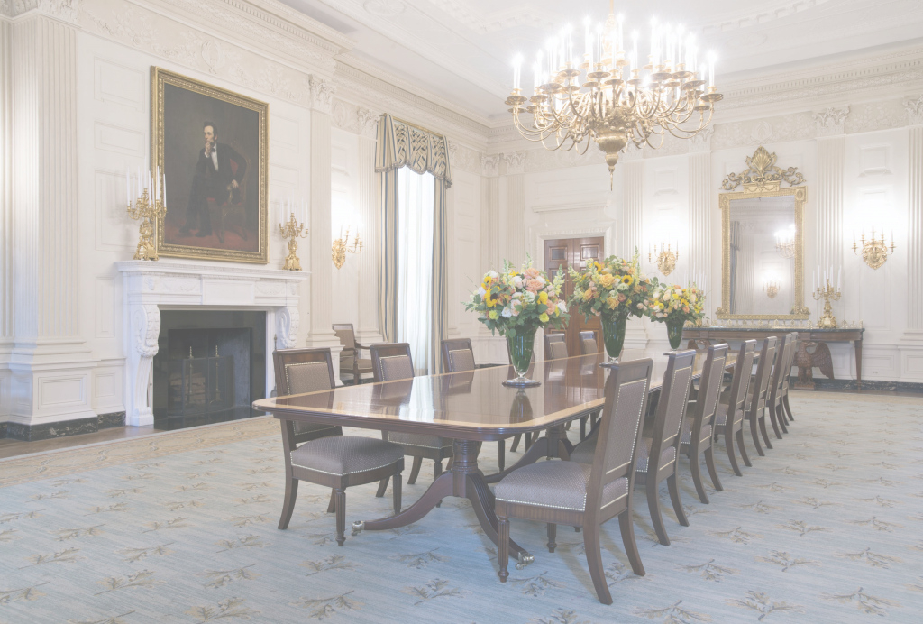 Cool Obama Legacy Includes A New Look For White House's State Dining Room regarding Elegant White House State Dining Room