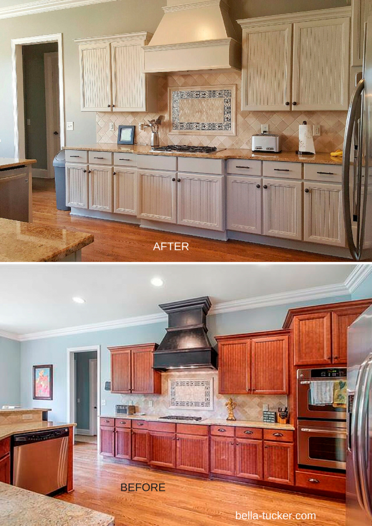 Cool Painted Cabinets Nashville Tn Before And After Photos within Painted Kitchen Cabinets Before And After