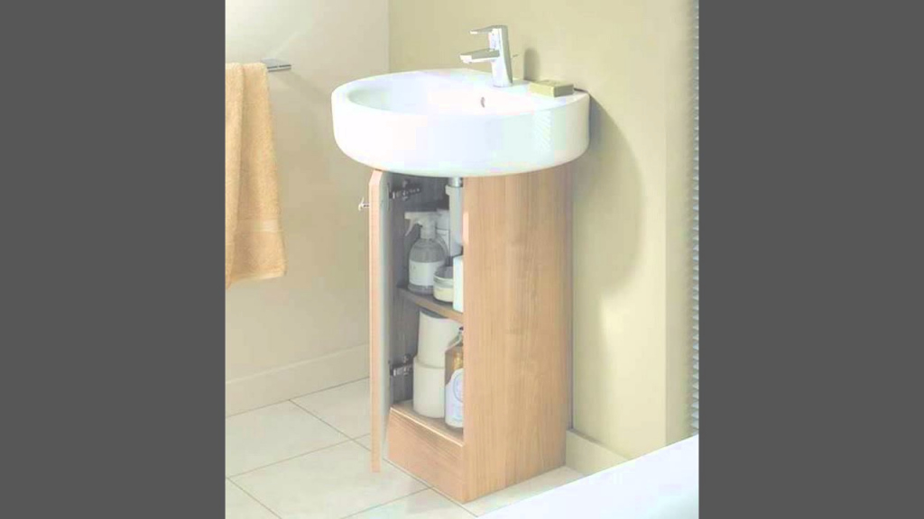 Cool Pedestal Sink With Cabinet - Youtube throughout Bathroom Pedestal Sink Storage Cabinet