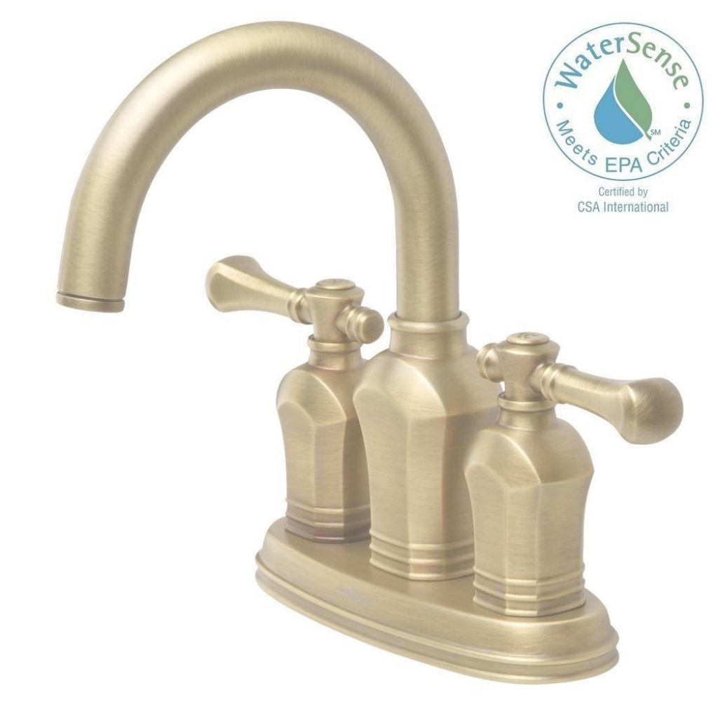 Cool Pegasus Verdanza 4 In. Centerset 2-Handle Bathroom Faucet In Antique pertaining to Brushed Brass Bathroom Faucet