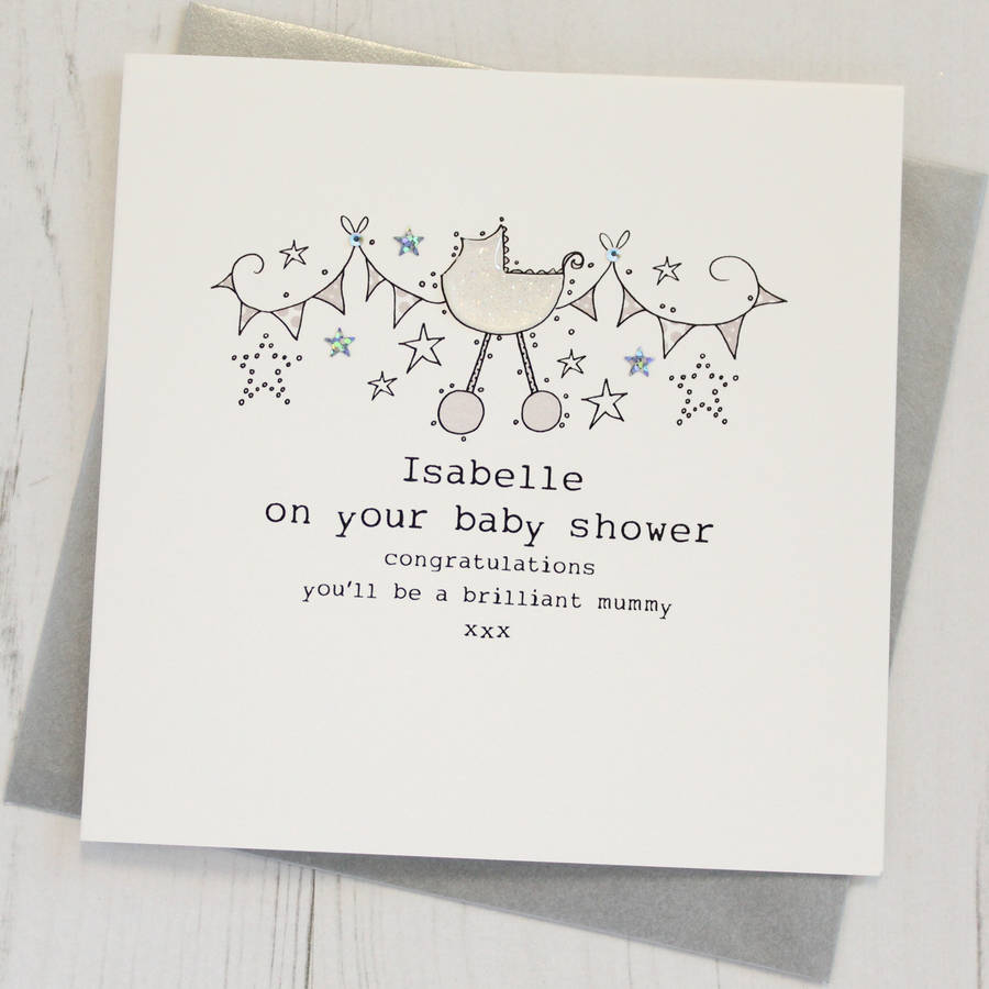 Cool Personalised Baby Shower Cardeggbert & Daisy regarding Baby Shower Congratulations
