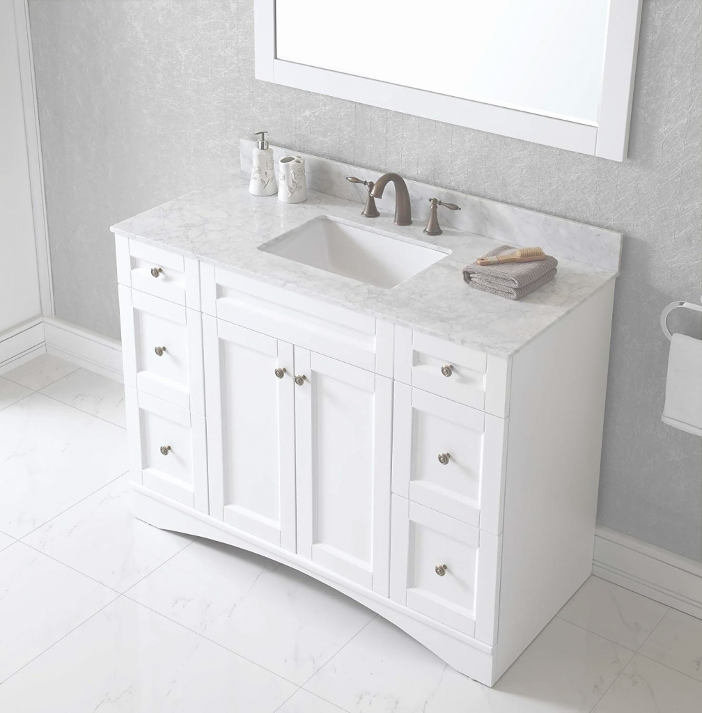 Cool Picture 9 Of 50 - 48 Inch Vanity Single Sink Lovely Bathroom Vanity with Review 48 Inch Bathroom Vanity With Top