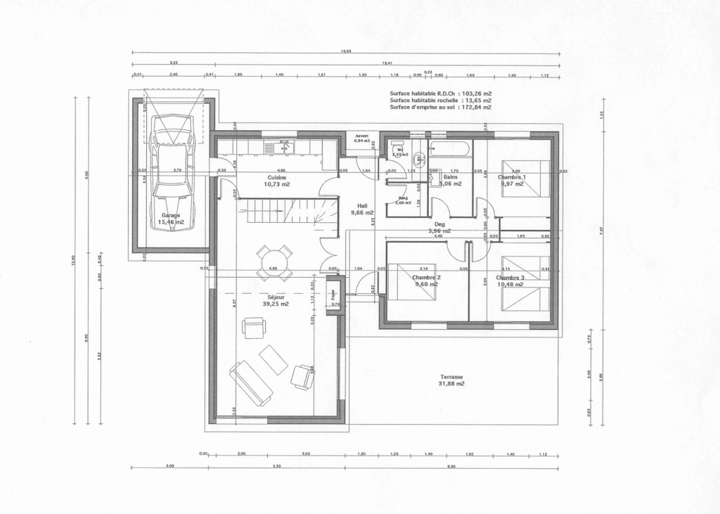 Cool Plan D'étage Design Et Plan De Maison | Greenscaletechnologies with Best of Plan De Maison