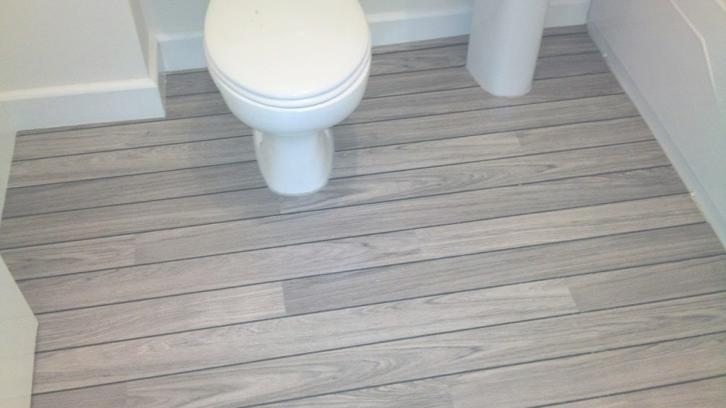 Cool Quick-Step® Lagune Ur 1205 Grey Teak Shipdeck Laminate Flooring with Laminate Flooring Bathroom