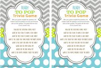 Cool Ready To Pop Baby Shower Trivia Game – Youtube within Baby Shower Trivia