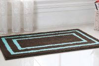 "Cool Regency Manor Microfiber Bath Rug 21X34"" Brown / Blue, Towel intended for Inspirational Blue Bathroom Rug Sets"