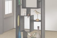 Cool Room Ideas : Black Finished Asymmetrical Shelving Unit 15 Shelves In inside Inspirational Living Room Shelving Units