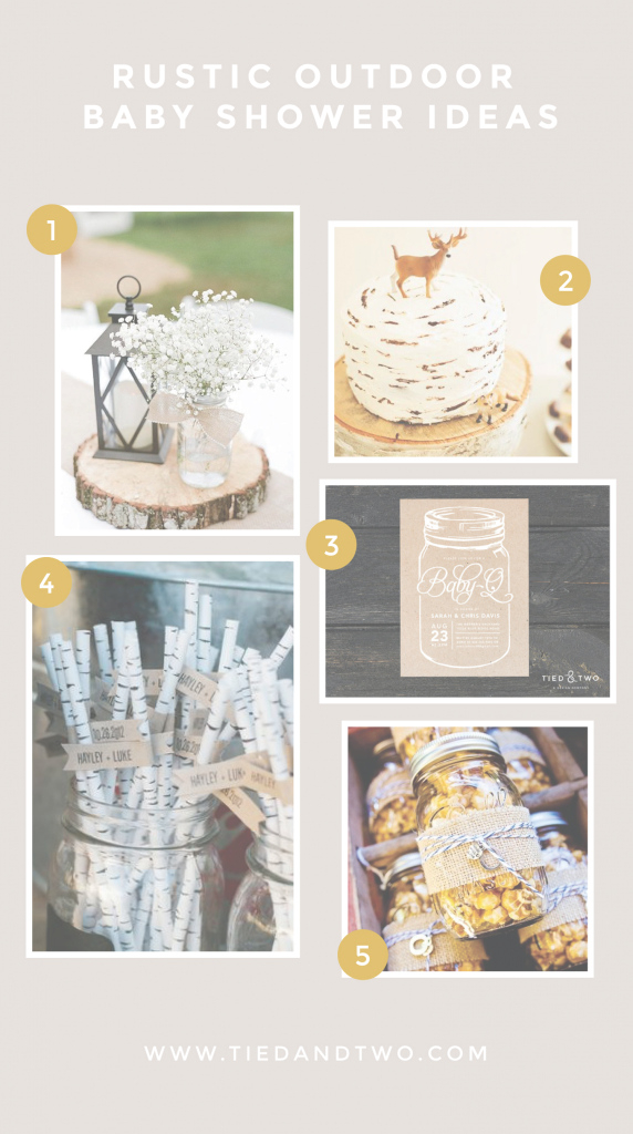Cool Rustic Outdoor Baby Shower Ideas | Tied & Two with Unique Outdoor Baby Shower Ideas