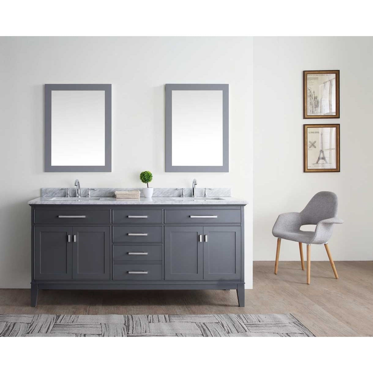 Cool Shop Ari Kitchen And Bath Danny 72-Inch Double Bathroom Vanity Set regarding Awesome Bathroom Vanity Table