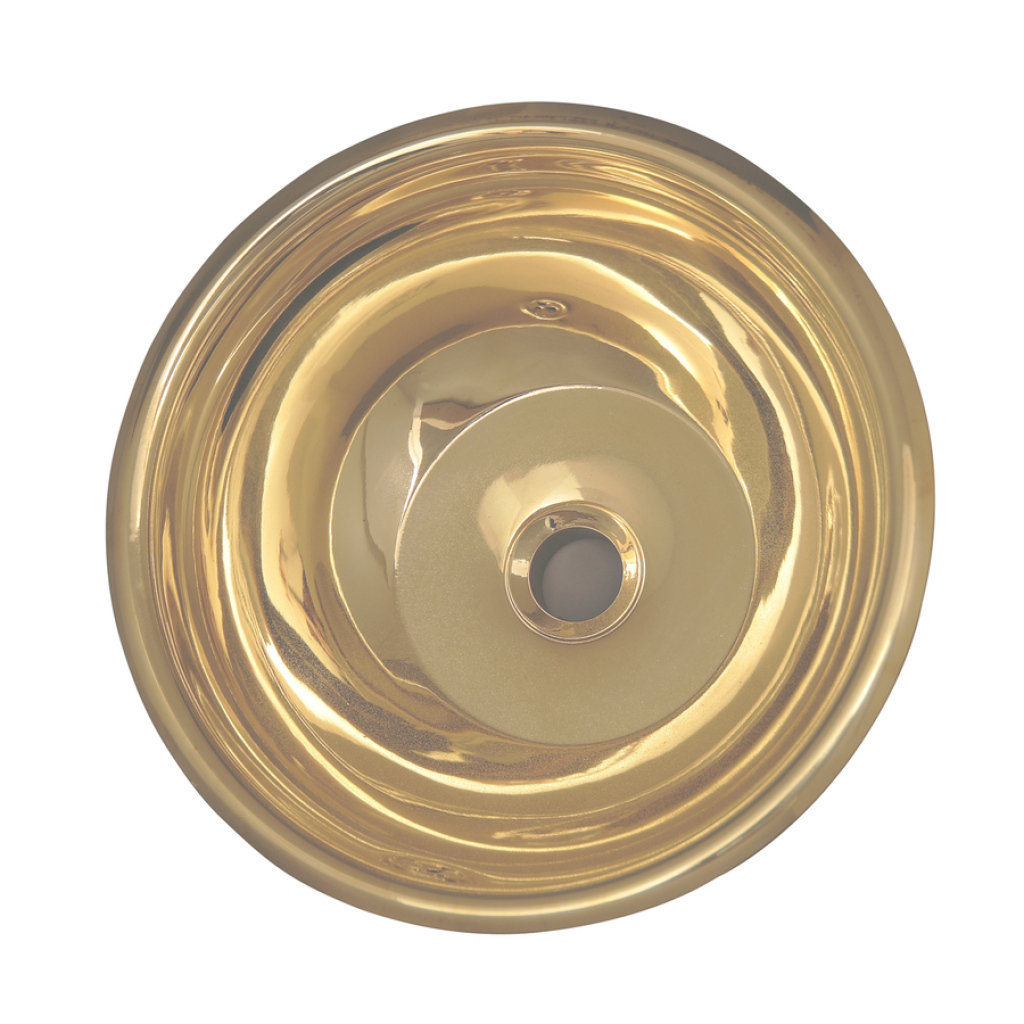 Cool Shop Barclay Polished Brass Brass Undermount Round Bathroom Sink intended for High Quality Brass Bathroom Sink
