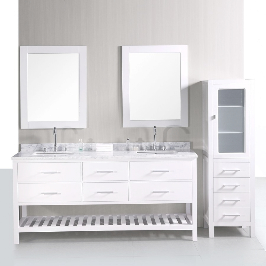 Cool Shop Design Element London Pearl White Double Sink Vanity With White for Best of Bathroom Vanity 72 Double Sink