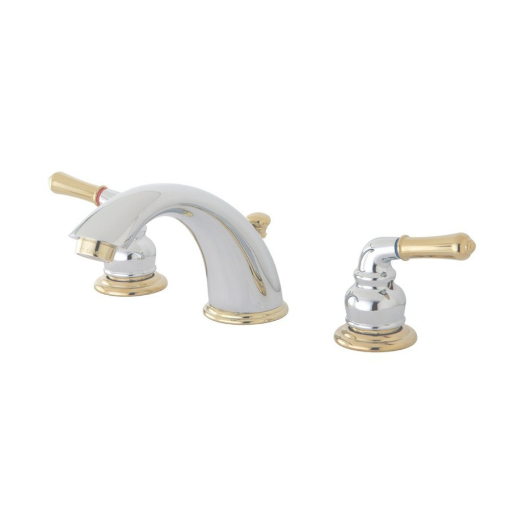 Cool Shop Elements Of Design Chrome/polished Brass 2-Handle Widespread for Chrome And Brass Bathroom Faucets