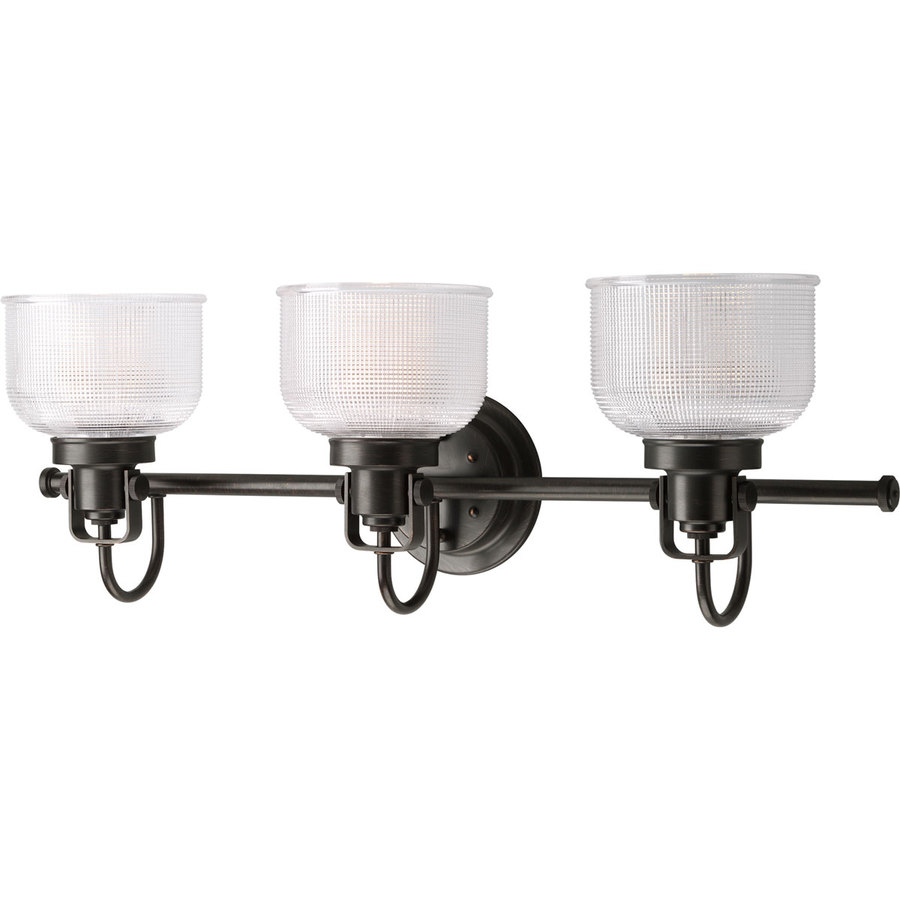Cool Shop Progress Lighting Archie 3-Light 26.25-In Venetian Bronze Bowl with regard to New Black Bathroom Vanity Light