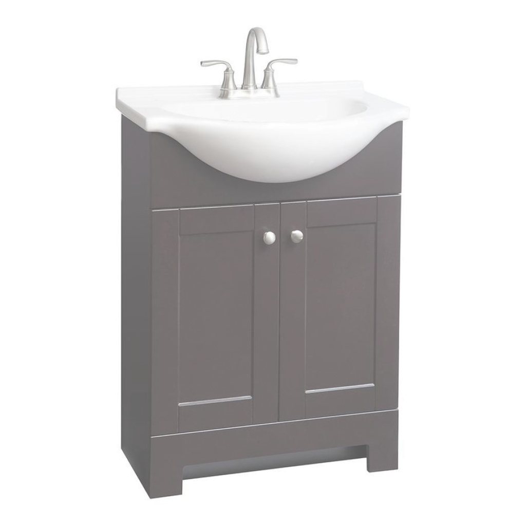 Cool Shop Style Selections Euro Espresso Single Sink Vanity With White for 24 Bathroom Vanity And Sink