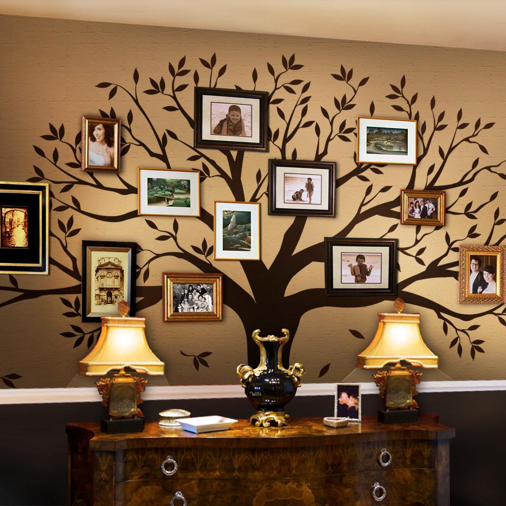 Cool Simple Shapes Family Tree Wall Decal Tree Wall Decal For Picture regarding Tree Wall Decals For Living Room