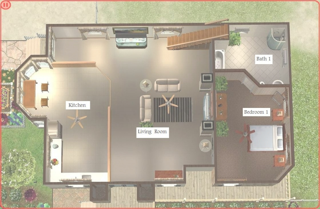 Cool Sims 2 House Plans Pc Brilliant Floor Plan | Theworkbench intended for Sims 2 House Layout