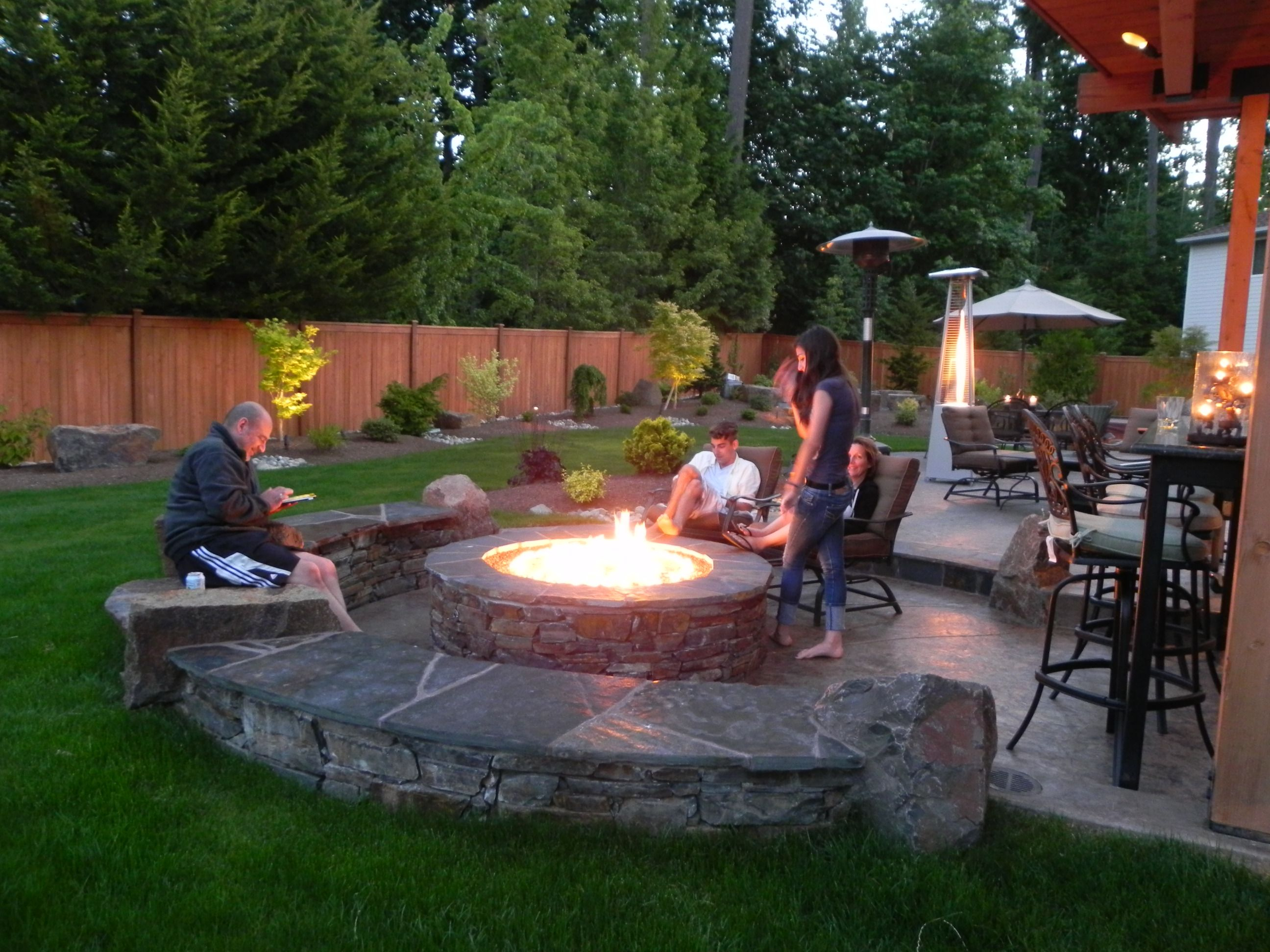 Cool Small Backyard Fire Pit Designs Small Backyard Fire Pit Ideas regarding Review Backyard Landscaping Ideas With Fire Pit