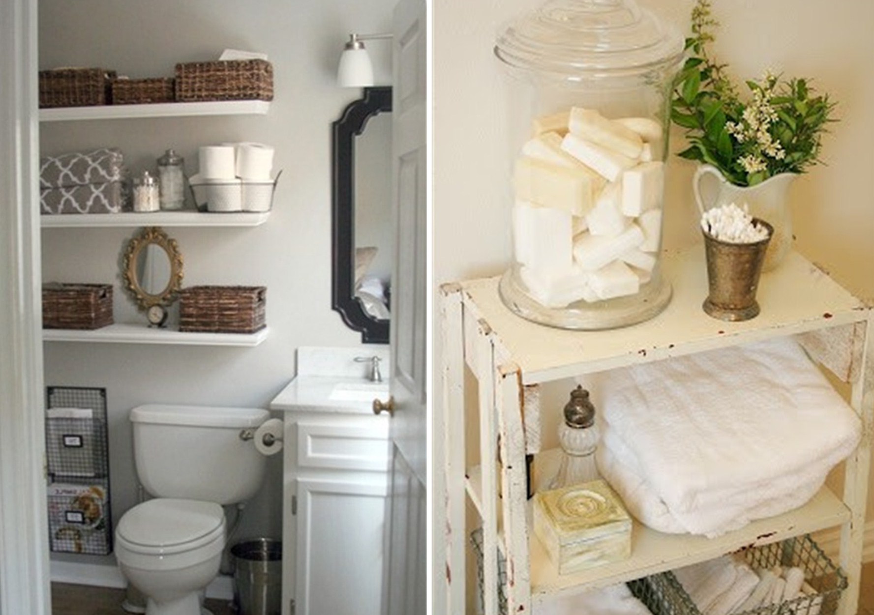Cool Small Bathroom Storage Ideas | Ivchic Home Design intended for Bathroom Wall Storage Ideas
