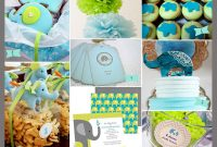 Cool So Bright! A Lime Green And Aqua Baby Shower With Elephants in Blue And Green Baby Shower