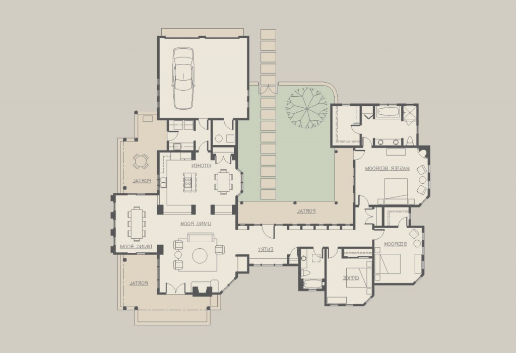 Cool Spanish Hacienda Floor Plans With Courtyards On Luxury One Story within Hacienda House Plans Center Courtyard Image