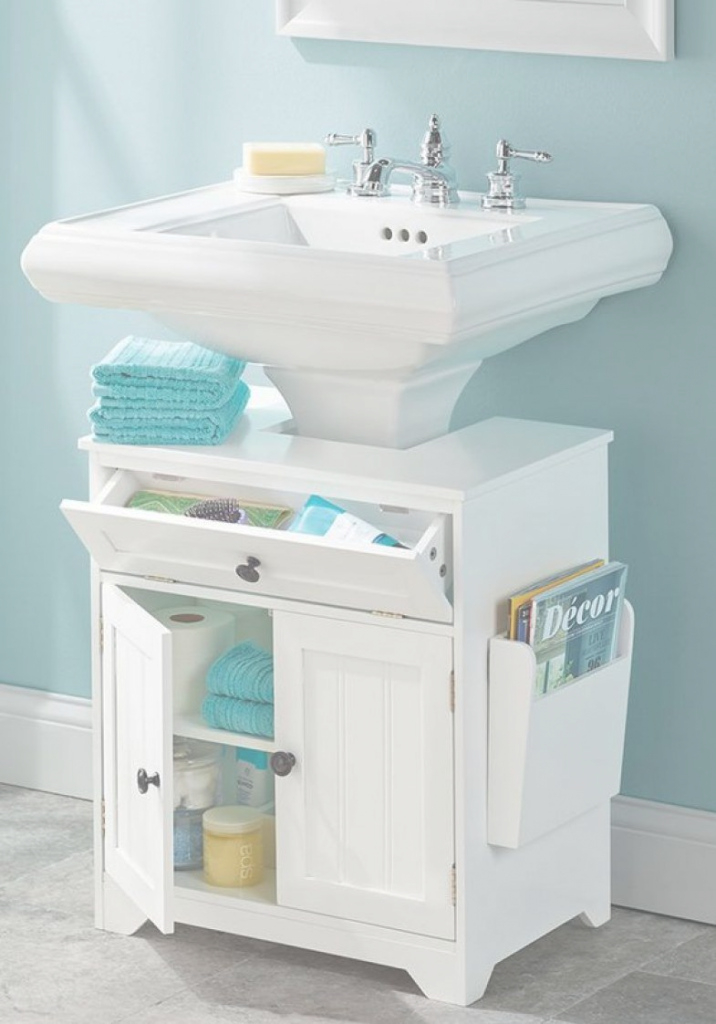 Cool The Pedestal Sink Storage Cabinet | Furniture | Pinterest | Pedestal intended for Bathroom Pedestal Sink Storage Cabinet