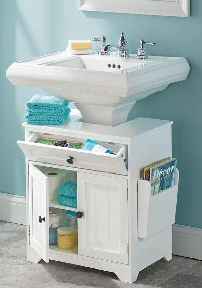 Cool The Pedestal Sink Storage Cabinet | Furniture | Pinterest | Pedestal pertaining to Bathroom Sink With Cabinet
