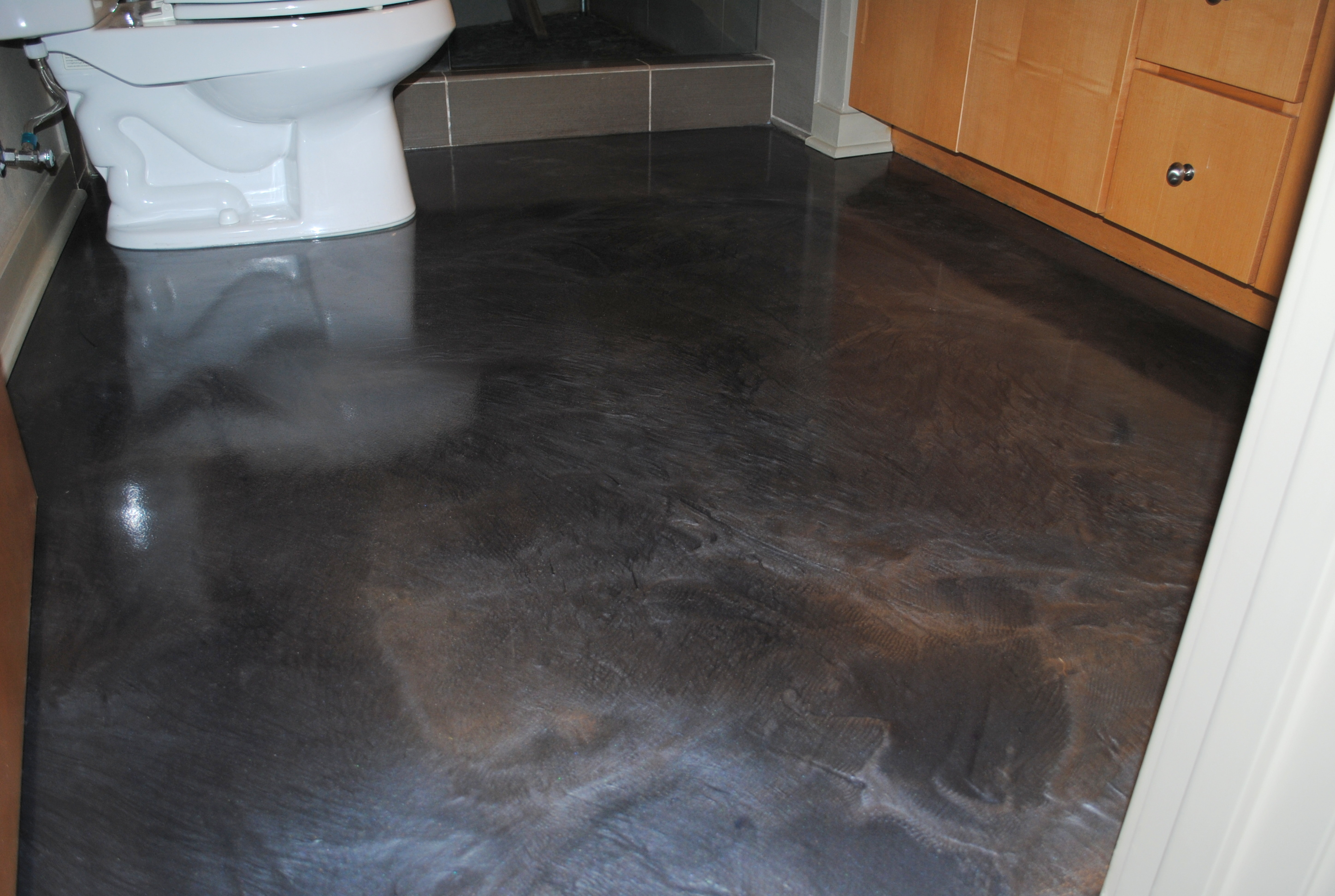 Cool The Rise Of Metallic Epoxy And Designer Flooring « Seattle Surfaces intended for Epoxy Bathroom Floor
