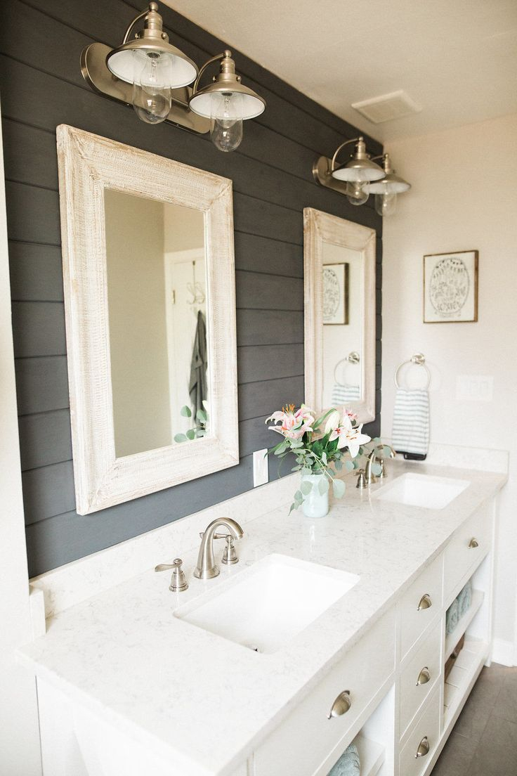 Cool This Bathroom Makeover Will Convince You To Embrace Shiplap pertaining to Set Master Bathroom Color Ideaslittle Girl Bath