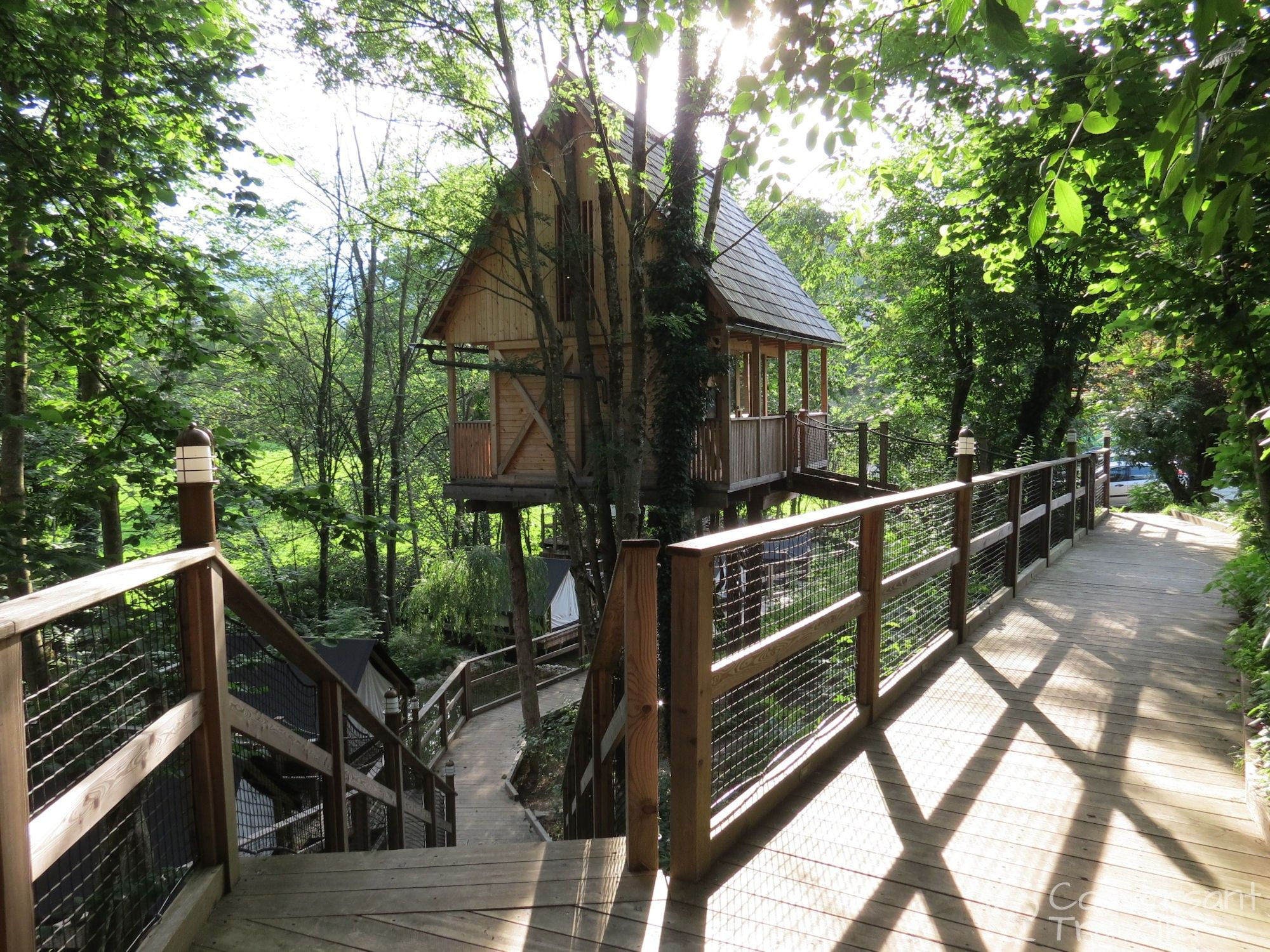 Cool Treehouse Sleeping At Garden Village Bled | Bled Slovenia And Slovenia in Garden Village Lake Bled